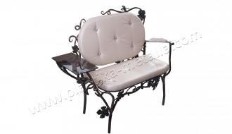 Кованая мебель, кованый диванчик, диван коридорный, пластика металла