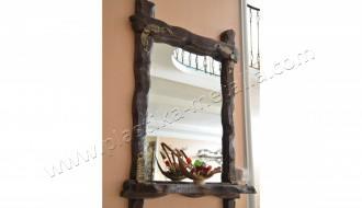 зеркало деревянное