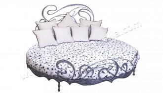 Кованая кровать круглая. Кованая мебель