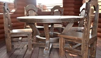 стол круглый и стулья