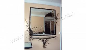 зеркало и консоль с колосом